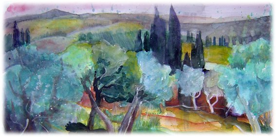 Monticchiello (2012), acquerello